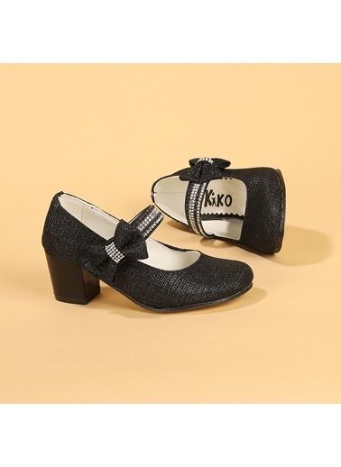 Kiko Kids Kiko 752 Çupra Günlük Kız Çocuk 4 Cm Topuk Babet Ayakkabı Siyah